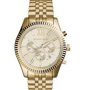Michael Kors Lexington Chronograph Gold-Tone Watch